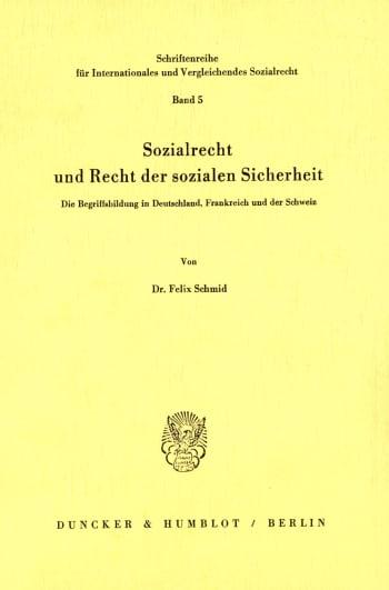 Cover: Sozialrecht und Recht der sozialen Sicherheit