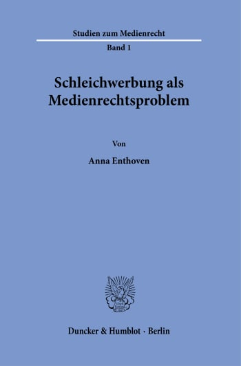 Cover: Studien zum Medienrecht (MR)