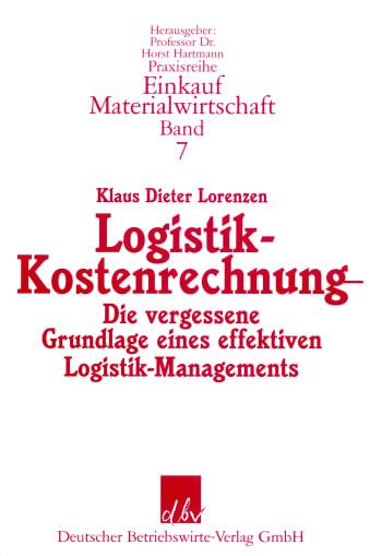 Cover: Logistik-Kostenrechnung