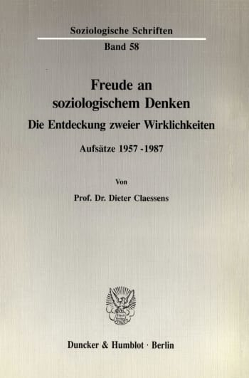 Cover: Freude an soziologischem Denken