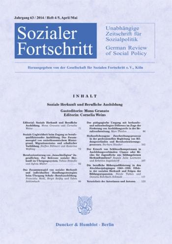 Cover: Soziale Herkunft und Berufliche Ausbildung