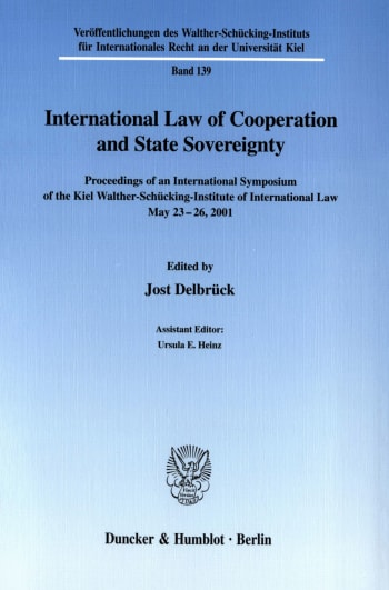 Cover: International Law of Cooperation and State Sovereignty