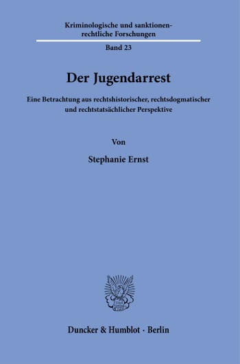 Cover: Der Jugendarrest