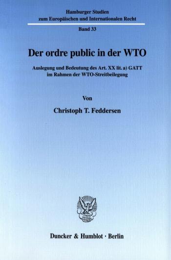 Cover: Der ordre public in der WTO