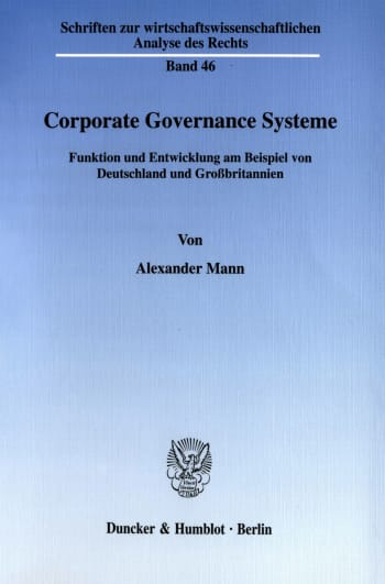 Cover: Corporate Governance Systeme
