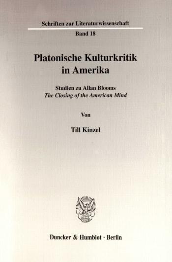 Cover: Platonische Kulturkritik in Amerika