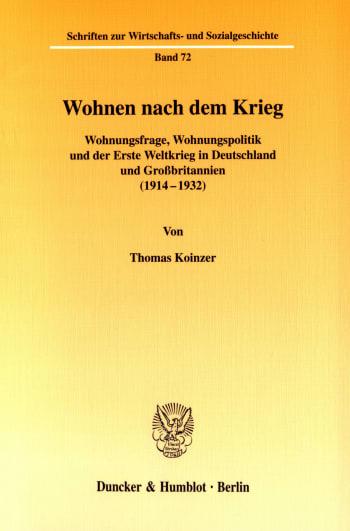 Cover: Wohnen nach dem Krieg