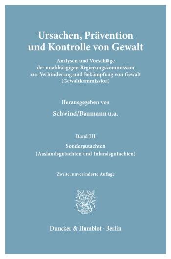 Cover: Ursachen, Prävention und Kontrolle von Gewalt