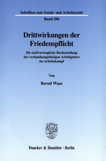 Cover: Drittwirkungen der Friedenspflicht