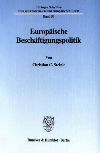 Cover: Europäische Beschäftigungspolitik