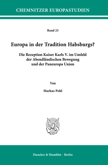 Cover: Europa in der Tradition Habsburgs?