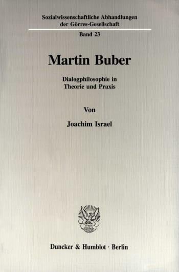 Cover: Martin Buber