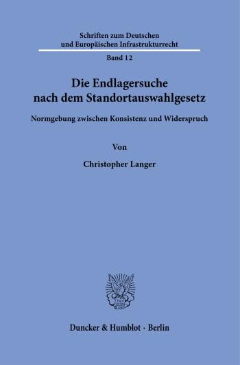 Cover: Schriften zum Deutschen und Europäischen Infrastrukturrecht (SDEI)
