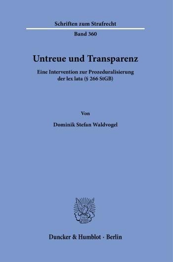 Cover: Untreue und Transparenz