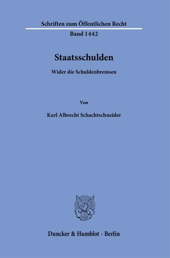 Cover: Staatsschulden