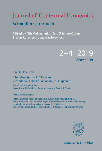 Cover: Liberalism in the 21st Century: Lessons from the Colloque Walter Lippmann