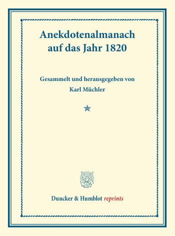 Cover: Anekdotenalmanach auf das Jahr 1820
