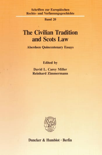 Cover: The Civilian Tradition and Scots Law