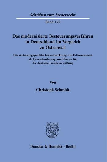 Cover: Das modernisierte Besteuerungsverfahren in Deutschland im Vergleich zu Österreich