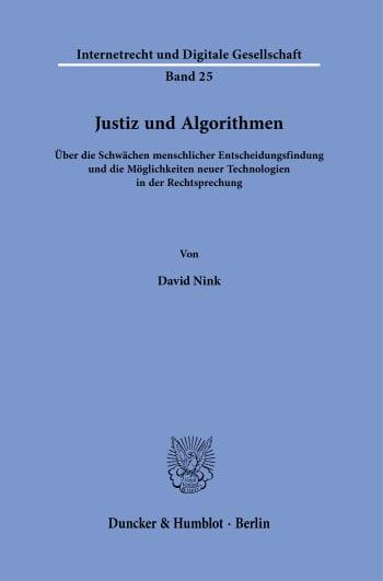 Cover: Justiz und Algorithmen