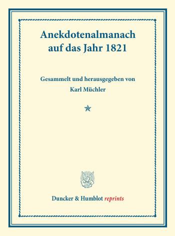 Cover: Anekdotenalmanach auf das Jahr 1821
