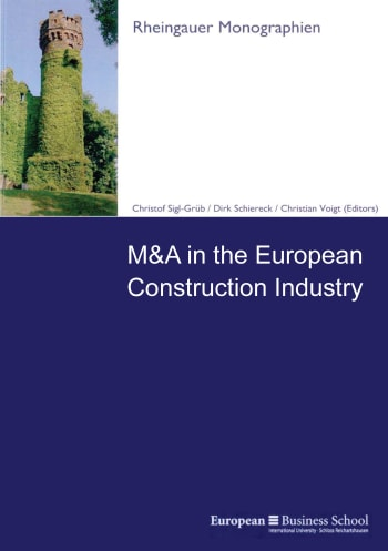 Cover: M&A in the European Construction Industry