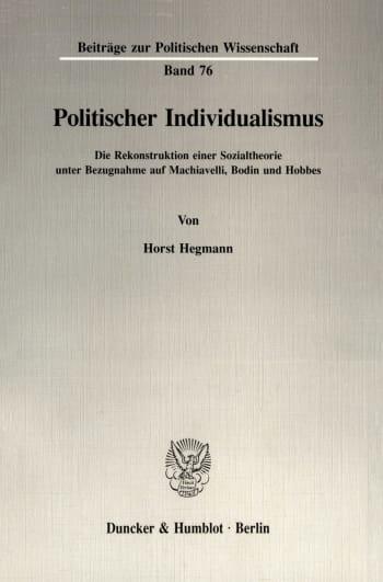 Cover: Politischer Individualismus