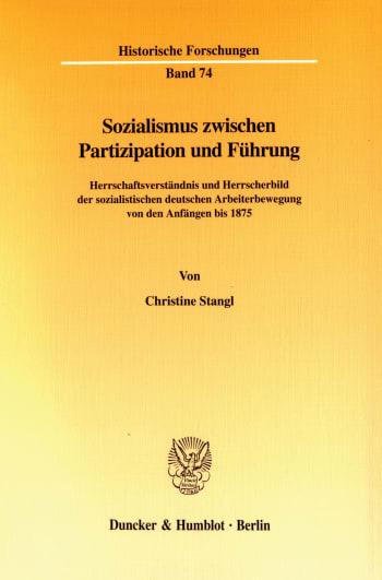 Cover: Sozialismus zwischen Partizipation und Führung