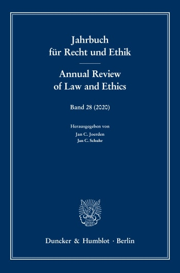 Cover: Annual Review of Law and Ethics