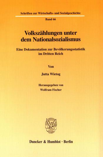 Cover: Volkszählungen unter dem Nationalsozialismus