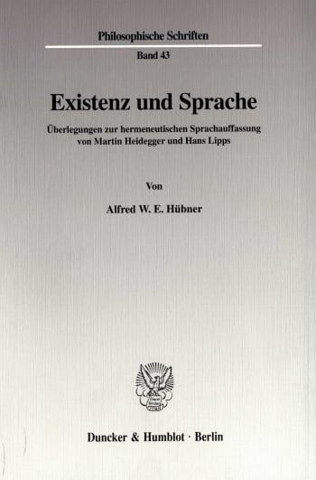 Cover: Existenz und Sprache