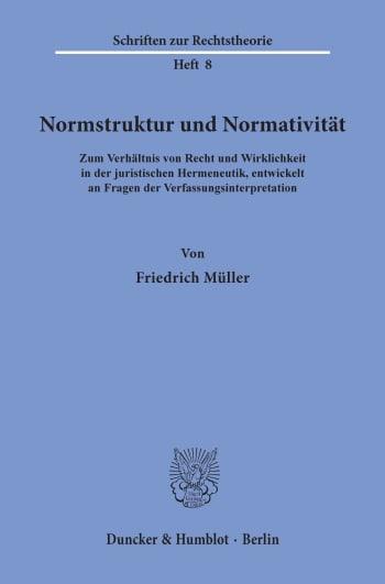 Cover: Normstruktur und Normativität