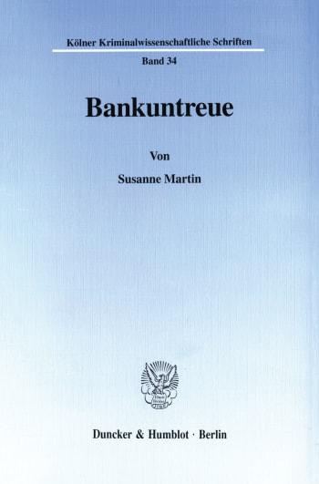 Cover: Bankuntreue