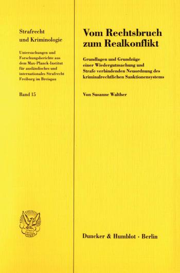 Cover: Vom Rechtsbruch zum Realkonflikt