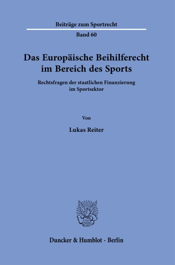 Cover: Beiträge zum Sportrecht (BSR)