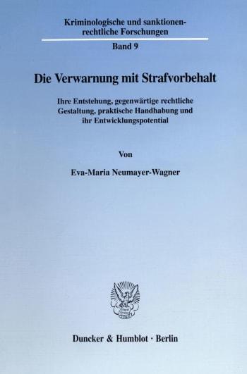 Cover: Die Verwarnung mit Strafvorbehalt