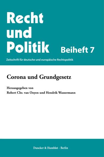 Cover: Corona und Grundgesetz