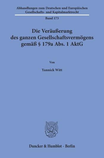 Cover: Abhandlungen zum Deutschen und Europäischen Gesellschafts- und Kapitalmarktrecht (AGK)