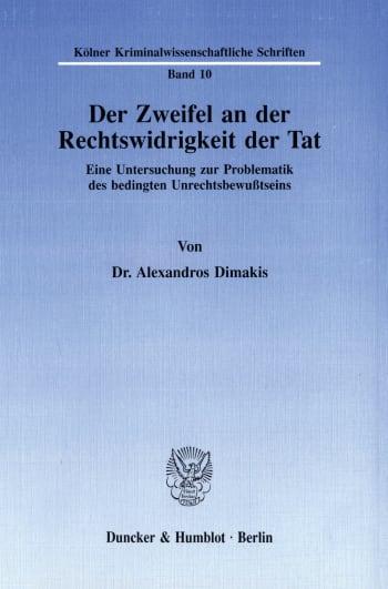 Cover: Der Zweifel an der Rechtswidrigkeit der Tat