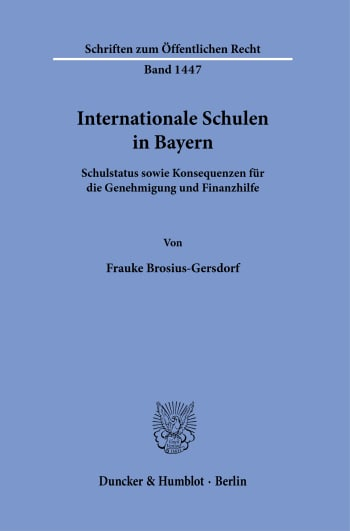 Cover: Internationale Schulen in Bayern