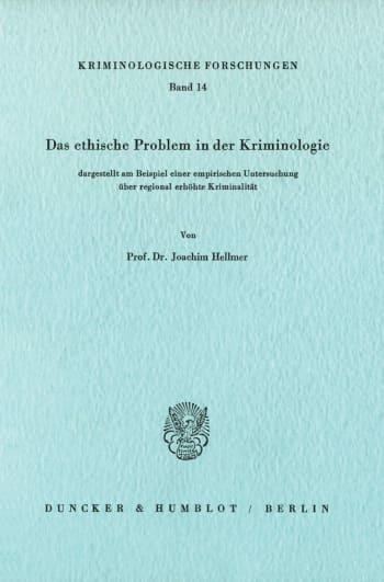 Cover: Kriminologische Forschungen (KF)