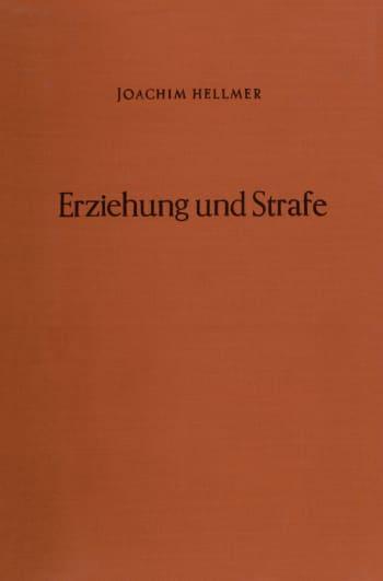Cover: Erziehung und Strafe