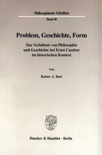 Cover: Problem, Geschichte, Form