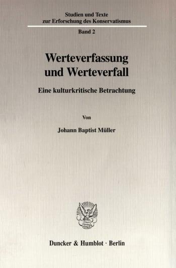 Cover: Werteverfassung und Werteverfall