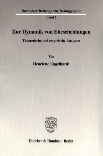 Cover: Zur Dynamik von Ehescheidungen