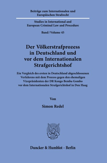 Cover: Beiträge zum Internationalen und Europäischen Strafrecht / Studies in International and European Criminal Law and Procedure (IES)