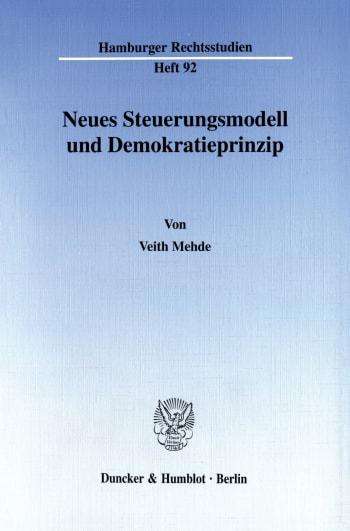 Cover: Neues Steuerungsmodell und Demokratieprinzip