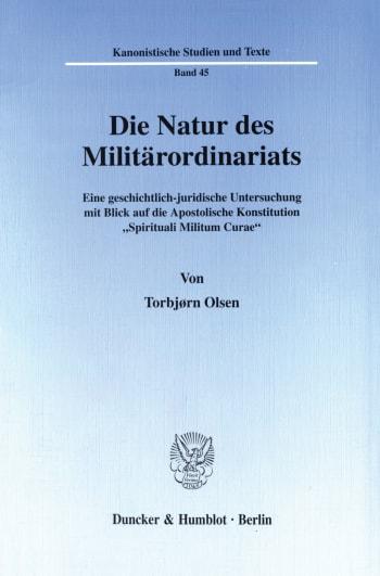 Cover: Die Natur des Militärordinariats