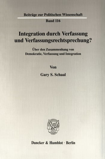 Cover: Integration durch Verfassung und Verfassungsrechtsprechung?