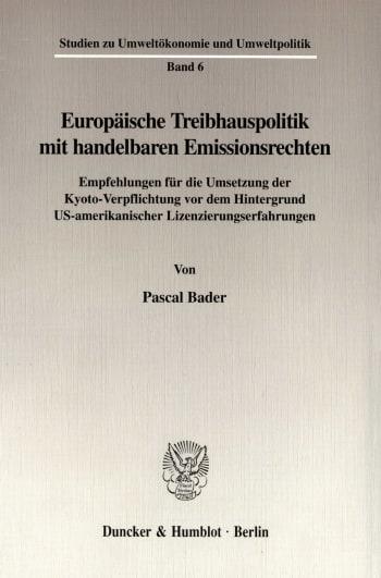 Cover: Europäische Treibhauspolitik mit handelbaren Emissionsrechten